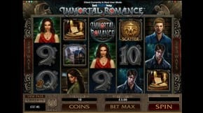 Immortal Romance Slot View